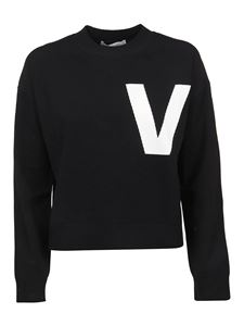 Valentino - Viscose blend crewneck in black