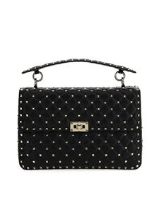 Valentino - Rockstud Spike large shoulder bag in black