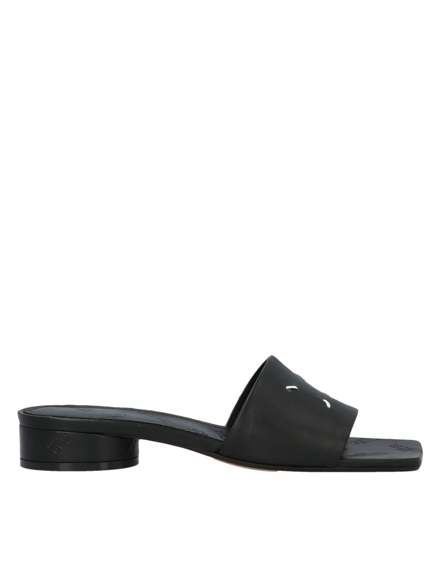 Maison Margiela 4-STITCHES SANDALS IN BLACK