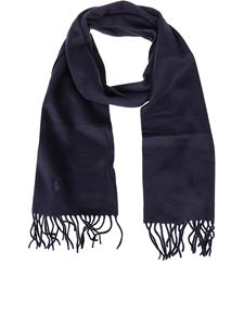 POLO Ralph Lauren - Logo embroidery scarf in blue