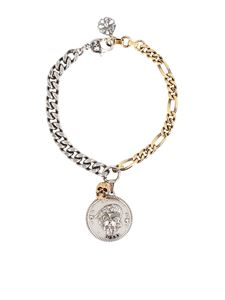Alexander McQueen - Skull necklace in gold silver finish