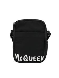 Alexander McQueen - Graffiti Mini Messenger Bag in black