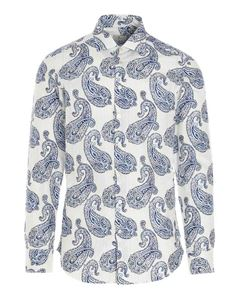 Etro - Paisley pattern shirt in white and blue