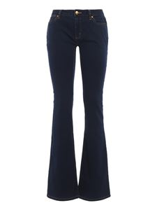 Michael Kors - Izzy flared jeans and mid-rise in blue