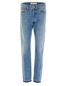 Golden Goose - Jeans with fringed hem in blue