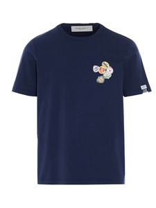 Golden Goose - T-shirt with contrasting details in blue