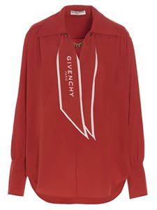Givenchy - Scarf collar blouse in red