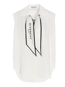 Givenchy - Scarf collar top in white