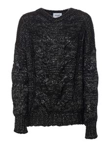 Dondup - Tricot effect pullover in black