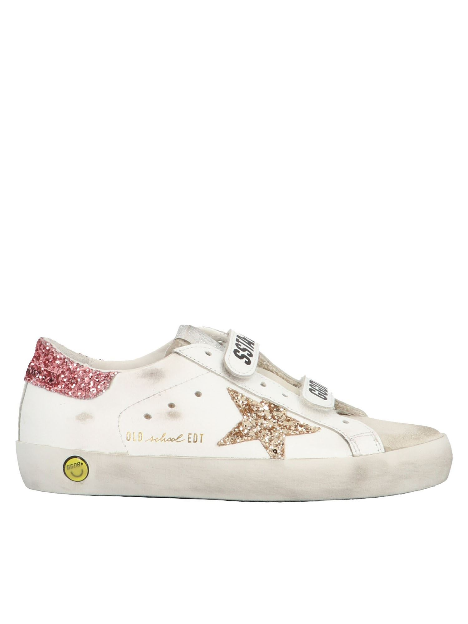 GOLDEN GOOSE OLD SCHOOL SNEAKERS IN WHITE