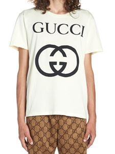 Gucci - T-shirt over bianca con stampa