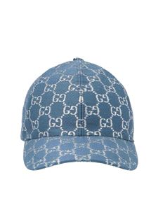 Gucci - Cap with lamé inserts in light blue