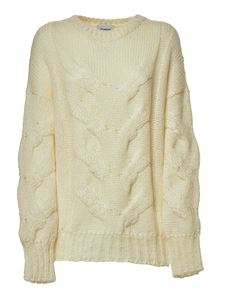 Dondup - Pullover effetto tricot bianco