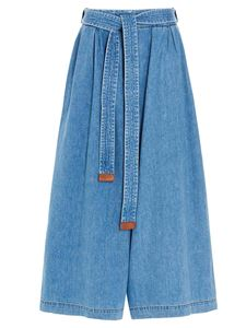 Loewe - Cropped Belt jeans in light blue