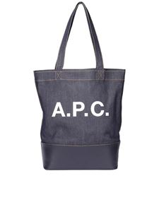 A.P.C. - Shopper Axel in denim e pelle blu