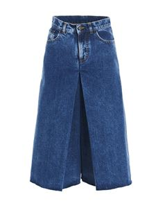 Maison Margiela - Spliced culottes in blue