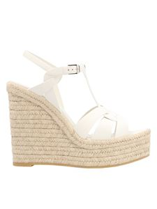 Saint Laurent - Tribute wedges in white