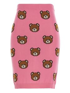 Moschino - Gonna Teddy Bear all-over fucsia