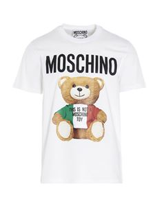 Moschino - Italian Teddy Bear T-shirt in white