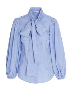 Red Valentino - Bow shirt in blue