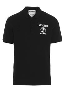 Moschino - Double Question Mark polo shirt in black