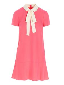 Red Valentino - White bow dress in pink