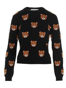 Moschino - Pullover cropped Teddy Bear nero