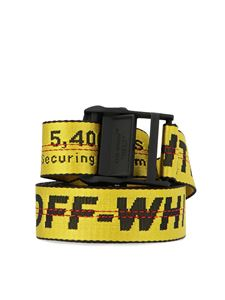 Off-White - Classic industrial belt in yellow