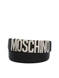 Moschino - Moschino logo belt in black and silver color