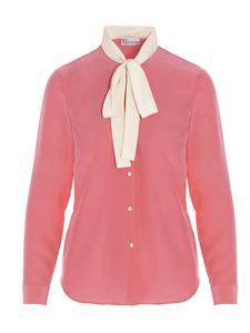 Red Valentino - White bow shirt in pink