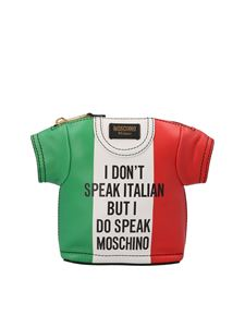 Moschino - Borsa T-shirt Italian Slogan multicolor