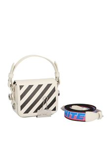 Off-White - Diag Baby Flap bag in white