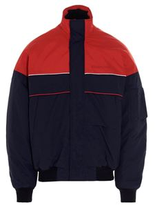 Balenciaga - Two-tone bomber in red and blue