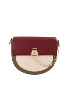 Furla - Miss Mimì S crossbody bag in cherry and mud color