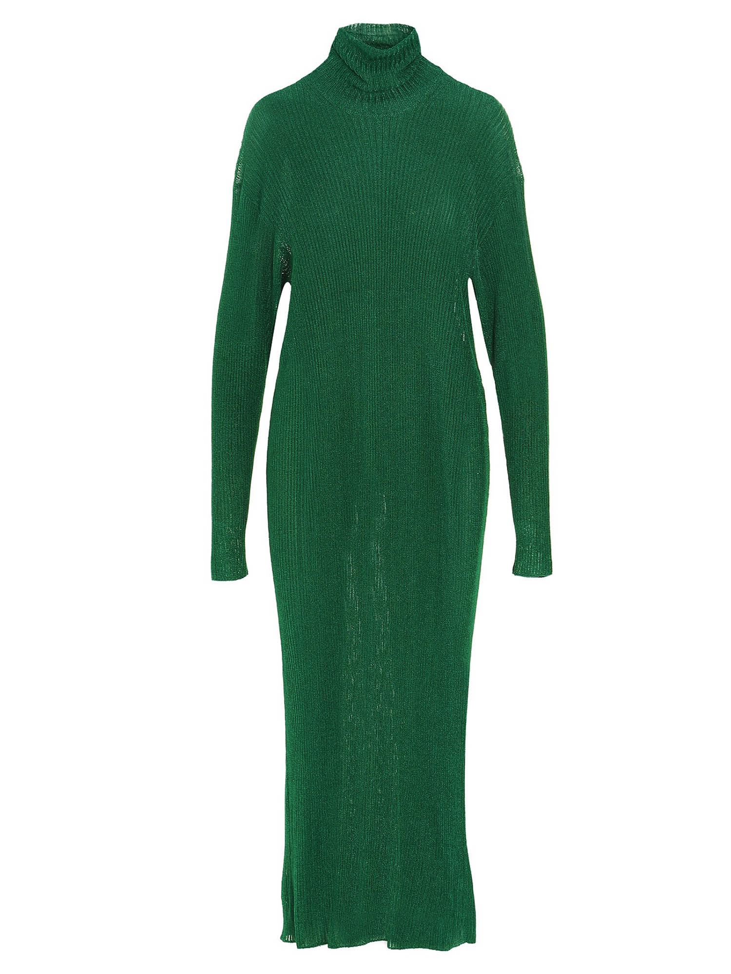 Balenciaga LONG LUREX DRESS IN GREEN