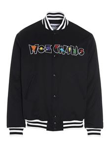Moschino - Geometric Logo bomber in black