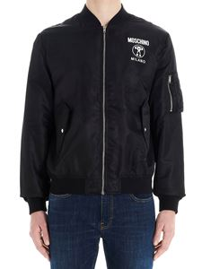 Moschino - Double Question Mark bomber jacket in black