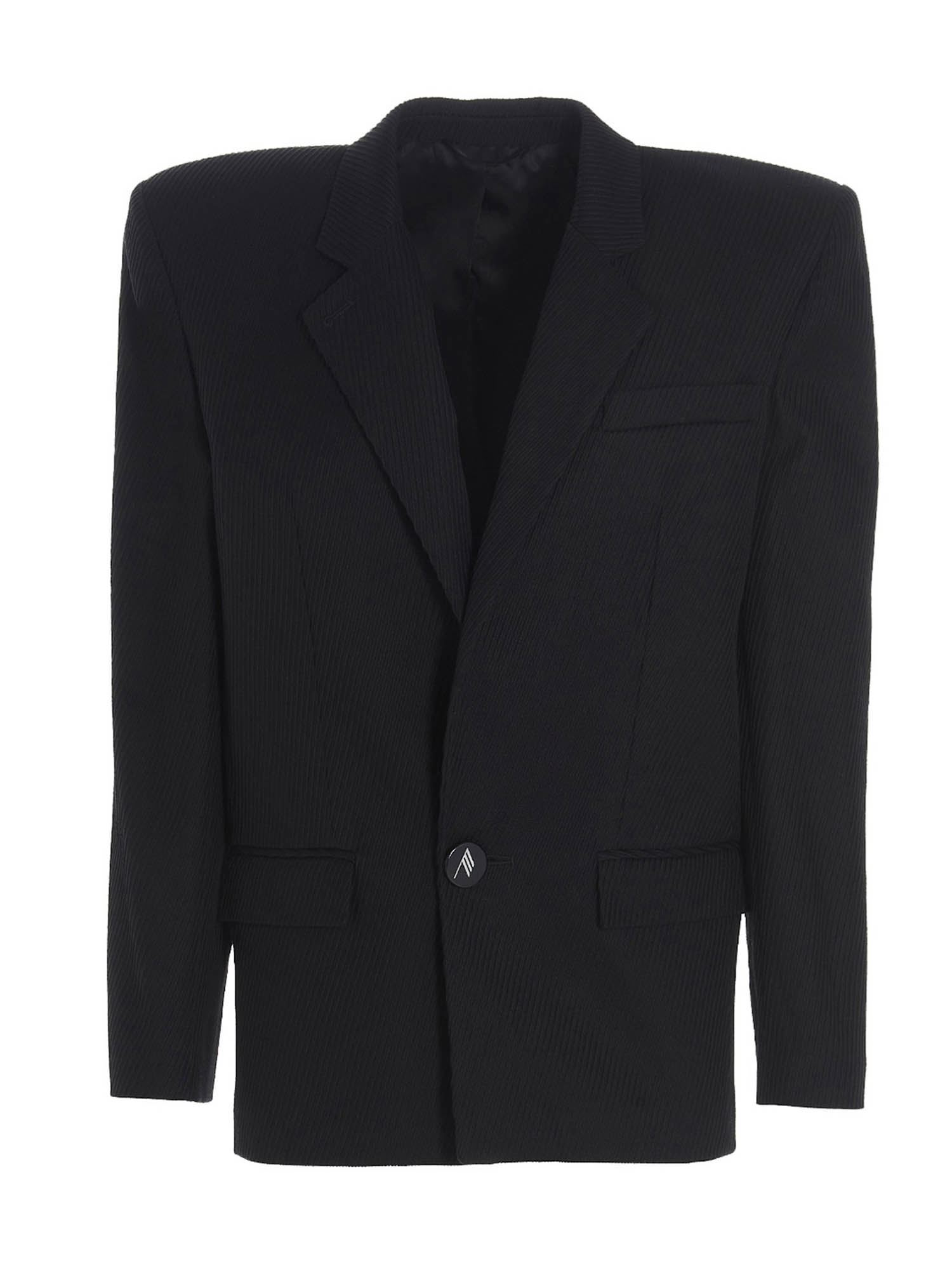 Attico CORDUROY JACKET IN BLACK