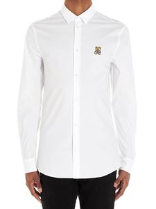 Moschino - Teddy patch shirt in white
