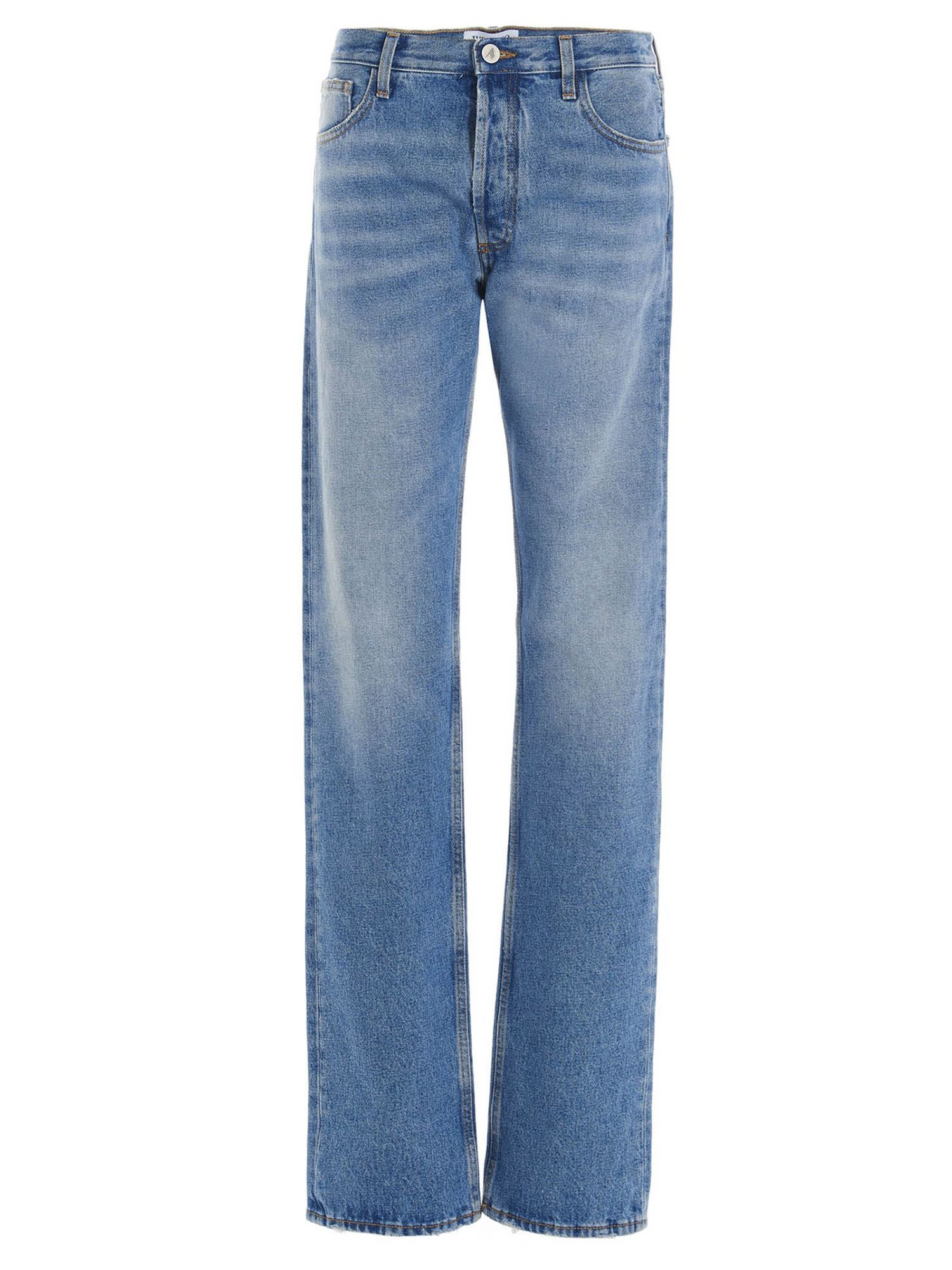 Attico SUPER WASHED JEANS IN LIGHT BLUE