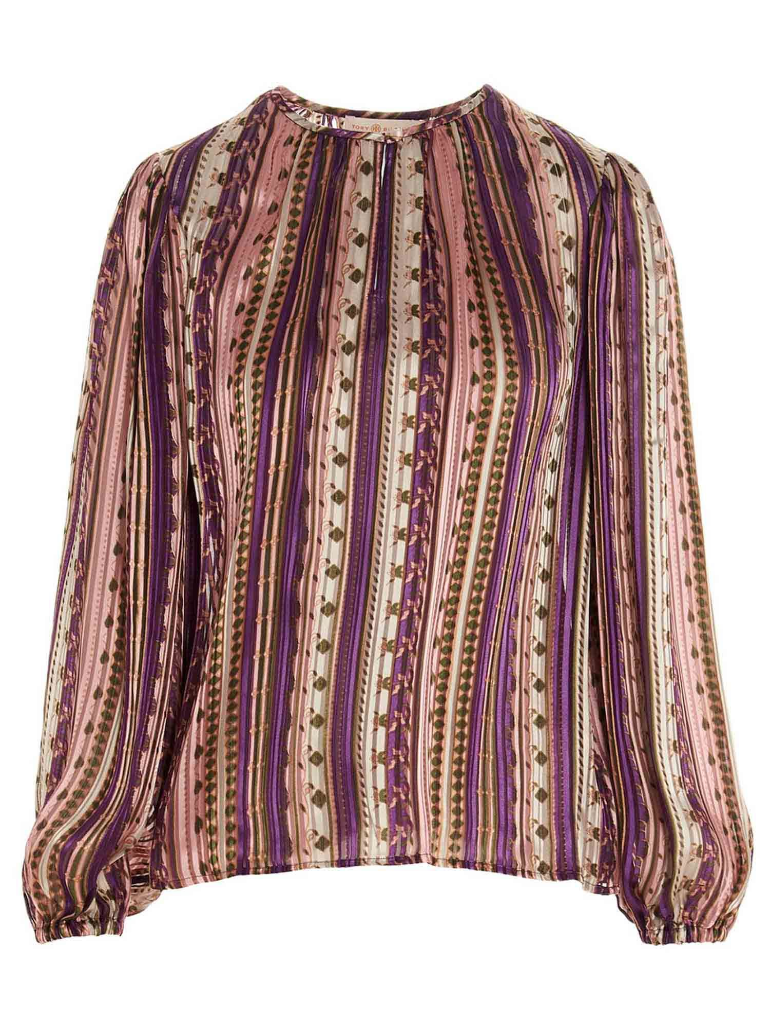 Tory Burch MULTICOLOR PATTERNED BLOUSE