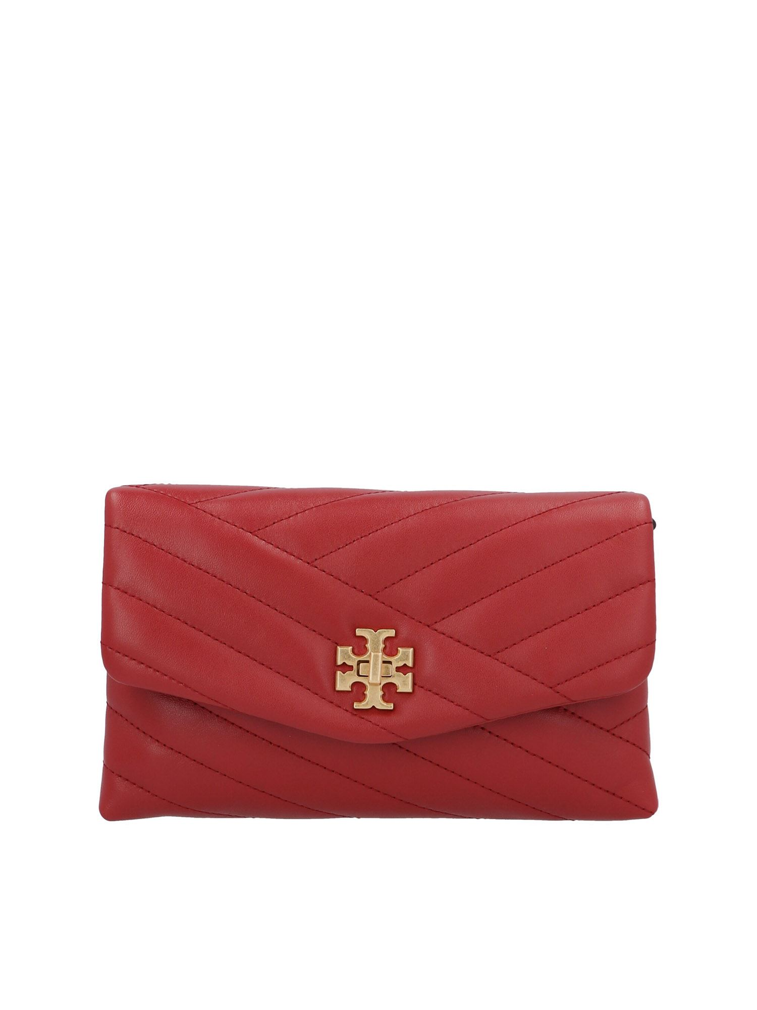 Tory Burch CHAIN KIRA WALLET IN RED