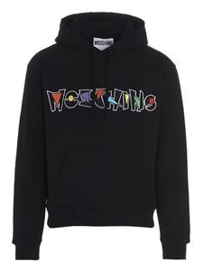 Moschino - Geometric Logo hoodie in black