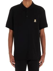 Moschino - Teddy Bear patch polo shirt in black