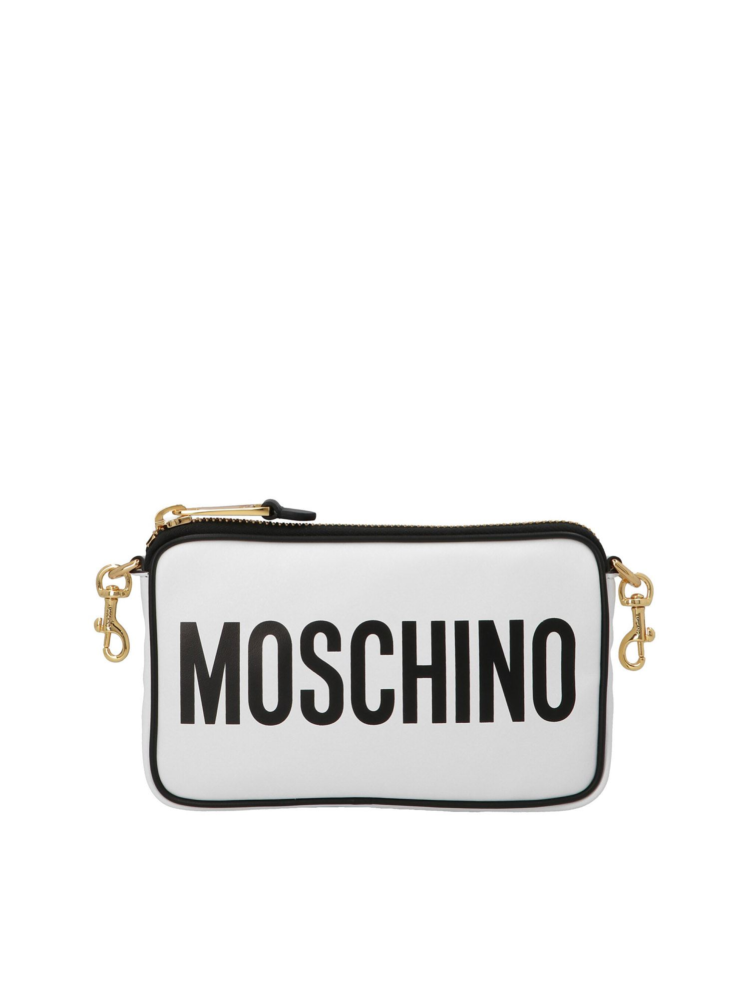 Moschino LOGO SHOULDER BAG IN WHITE