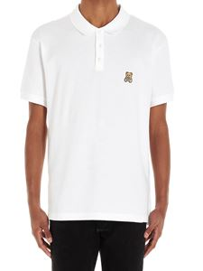 Moschino - Teddy Bear patch polo shirt in white