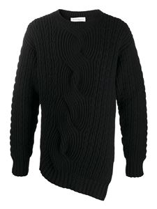 Alexander McQueen - Cable-knit wool-cashmere blend jumper in black