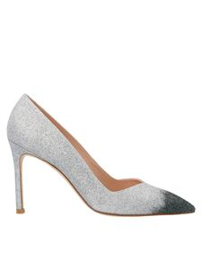 Stuart Weitzman - Glittered Anny pumps in silver