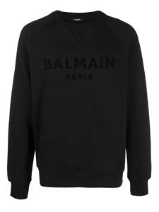 Balmain - Lettering print cotton sweatshirt in black