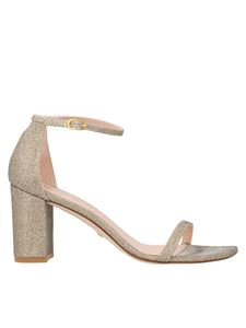 Stuart Weitzman - Amelina Block sandals in gold color